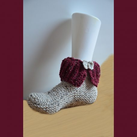 chaussons adulte tricotés main
