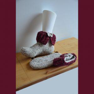 Chaussons boots adulte fait main