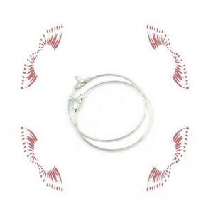 10 boucles oreilles anneaux créoles 29 x 26 mm