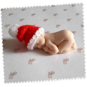 mini bonnet lutin bebe fimo