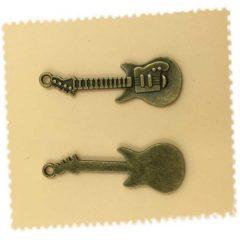 Lot 5 breloques charms guitare bronze antique
