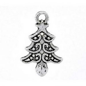 Lot 10 breloques pendentifs sapins de Noel
