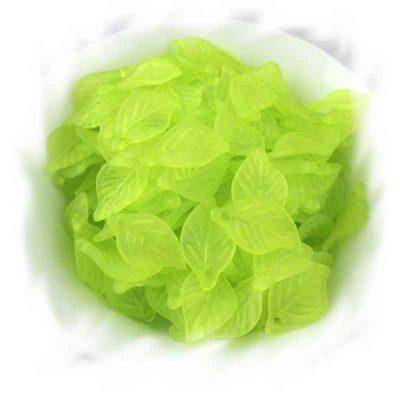perle feuille verte givrée
