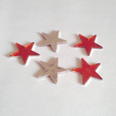 Etoiles décoratives rouge 3 cm 5 branches
