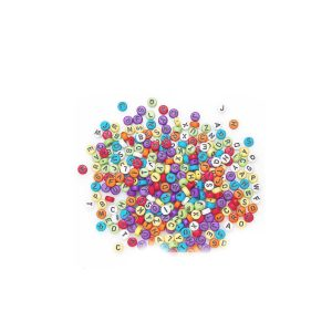 500 perles alphabet multicolore 7 mm