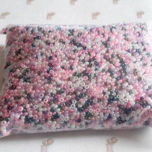5000 perles en verre mini rocaille en mélange ton violet 2 mm