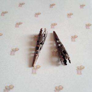 Coupelles calottes cones 41 x 8 bronze
