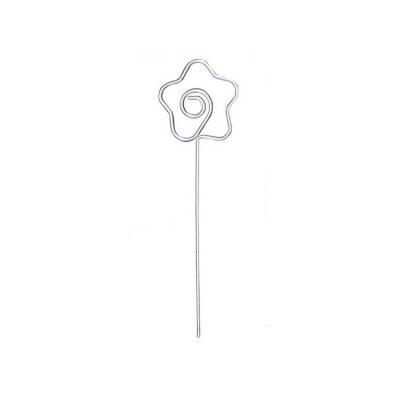 Porte photo fleur acier chromé 13 cm