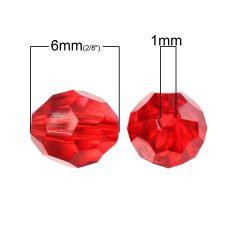 1000 perles RONDE FACETTE multicolore 6 mm