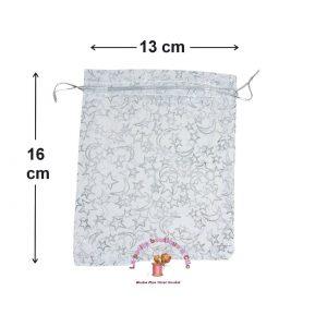 POCHETTES cadeaux ORGANZA avec lien 13 x 16 cm