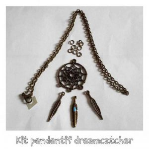 Kit DIY pendentif dreamcatcher bronze
