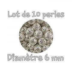 perle ronde intercalaire filigrane