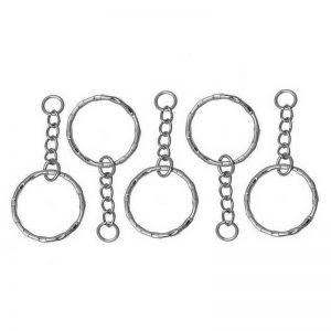 Lot de 5 anneaux attache porte clés