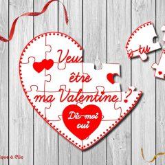 carte puzzle coeur saint valentin