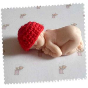bonnet miniature crochet coton rouge