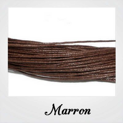 80 m CORDON FIL COTON CIRE 1 mm COULEUR MARRON