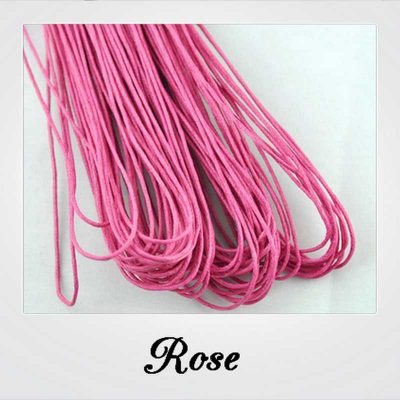 80 m CORDON FIL COTON CIRE 1 mm COULEUR ROSE