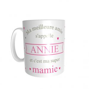 mug personnalisé prénom mamie