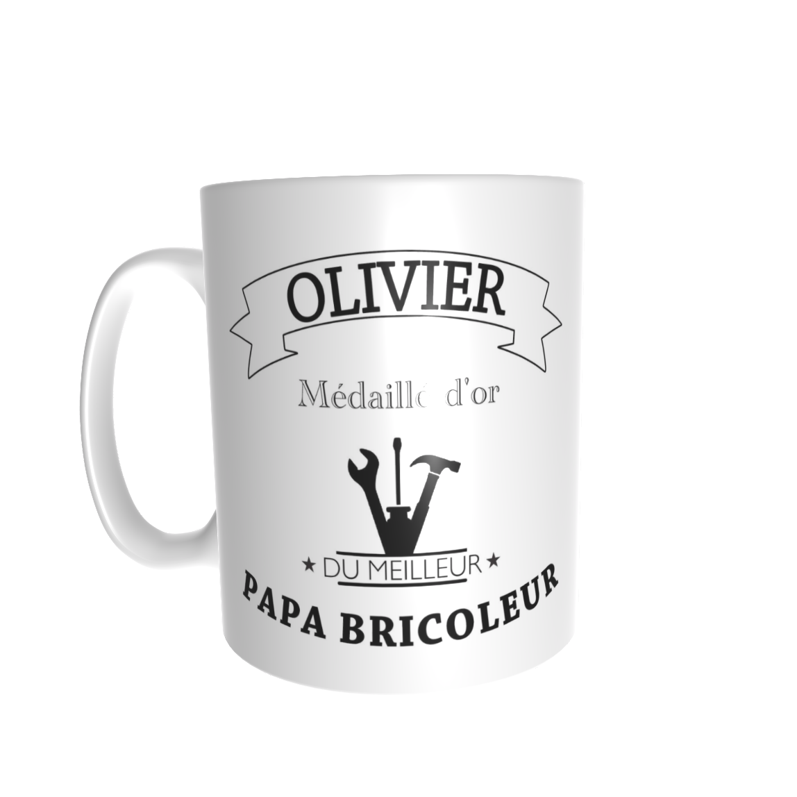 mug personnalis pr nom pour un papa bricoleur la petite boutique clic. Black Bedroom Furniture Sets. Home Design Ideas