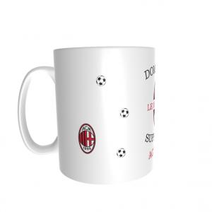 Mug personnalisé prénom supporter Milan AC
