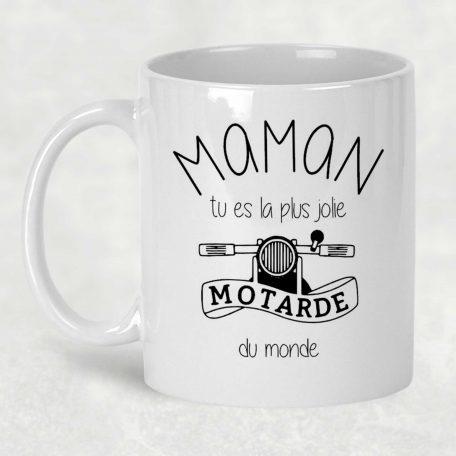 mug personnalisé maman motarde