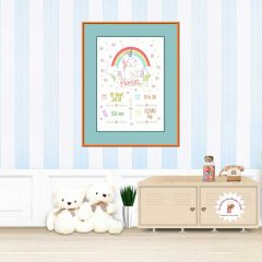 affiche naissance licorne