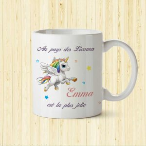 mug licorne personnalisation prenom enfant