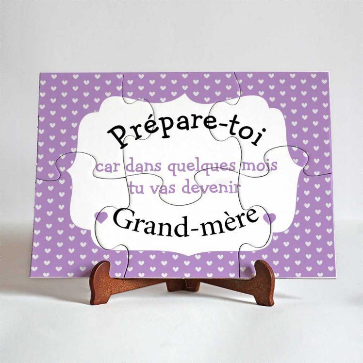 puzzle annonce grossesse grand-mère
