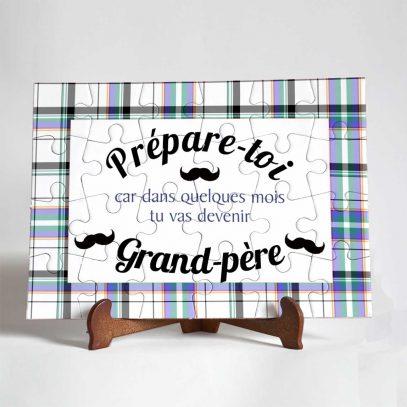 carte puzzle annonce grossesse grand-père