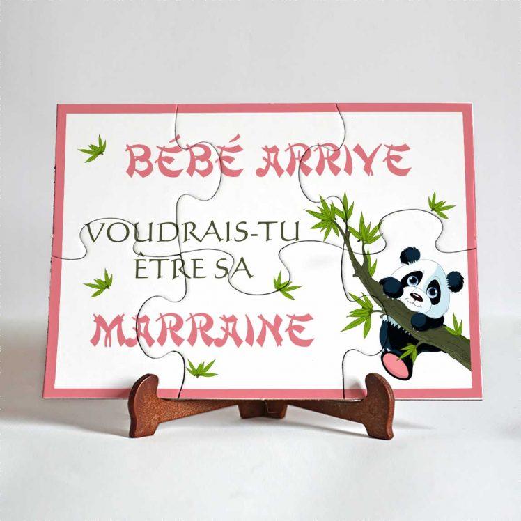 puzzle-marraine panda 6 pièces