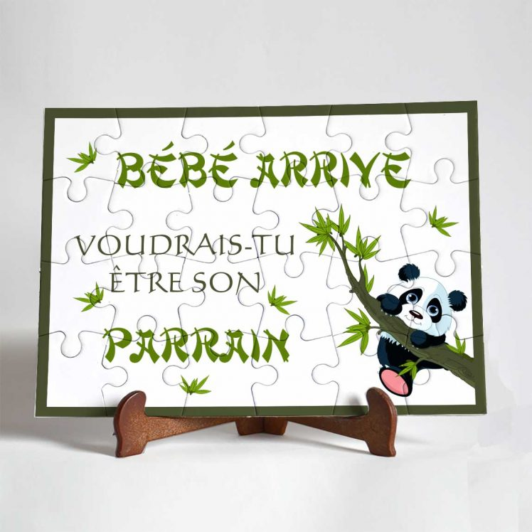 puzzle-parrain-panda 24 pièces