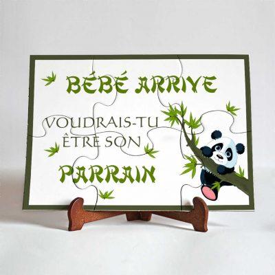 puzzle parrain panda