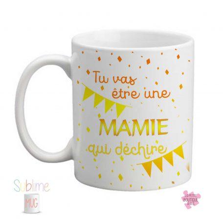 mug annonce grossesse mamie qui déchire