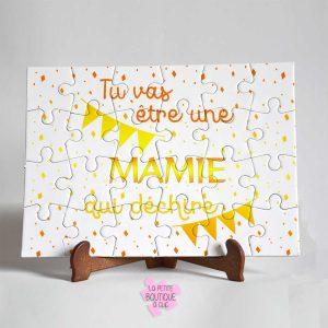 Puzzle Mamie «Qui déchire» personnalisable