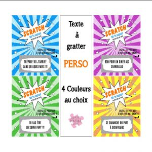 ticket à gratter personnalisable 4 couleurs