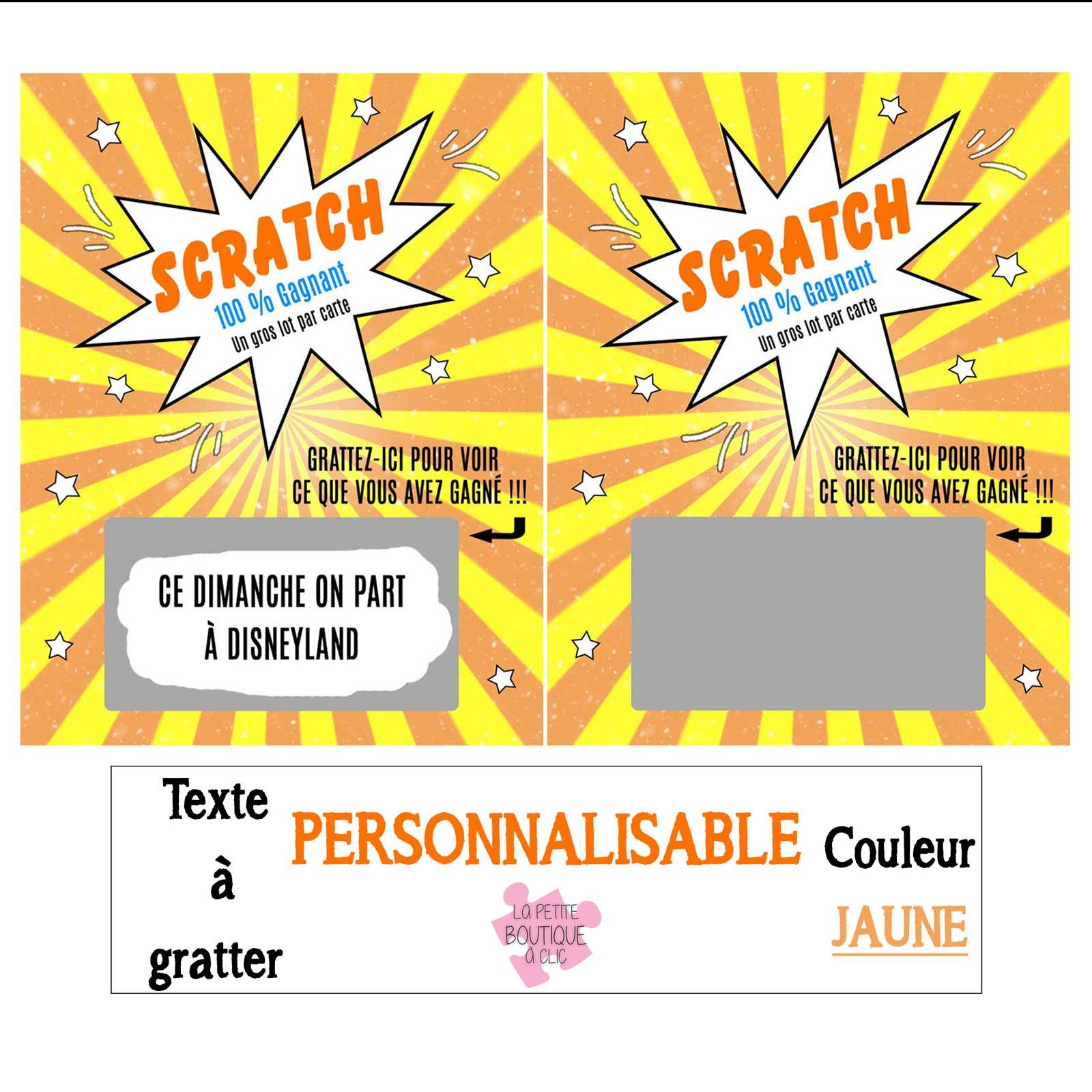 Mini Carte A Gratter Personnalisable La Petite Boutique A Clic