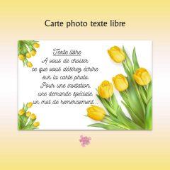 carte personnalisée texte libre qualité photo
