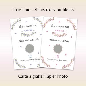 carte à gratter texte libre qualité photo
