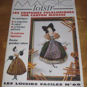 Magic loisir les costumes folkloriques sur carton mousse