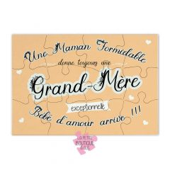 puzzle annonce grossesse grand-mere