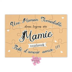 puzzle annonce grossesse mamie