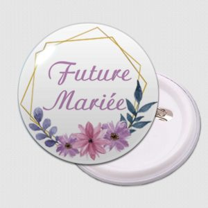 badge future mariée decors floral