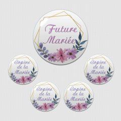 badge evjf future mariée et copine de la mariée