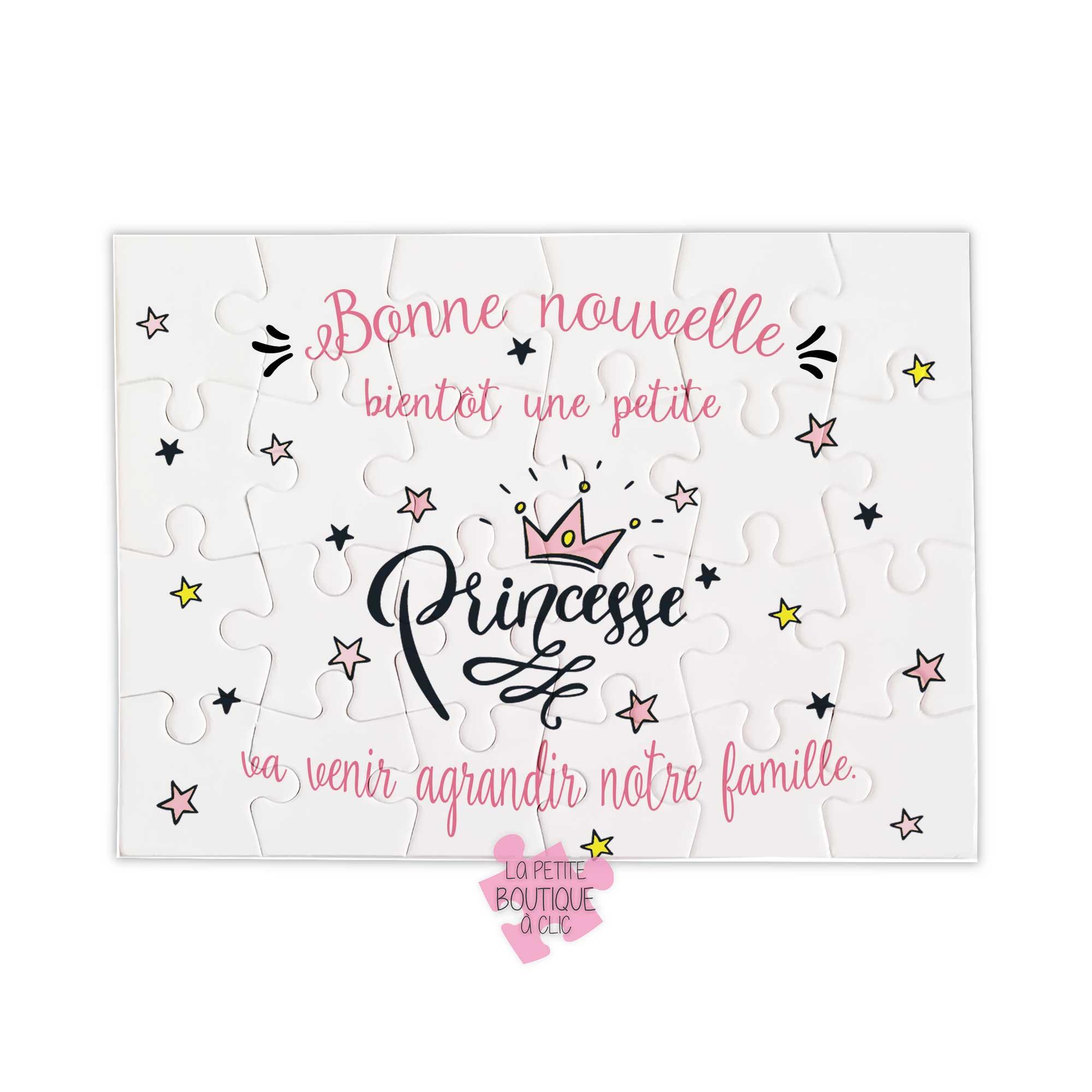 Annonce Grossesse Fille Puzzle Petite Princesse