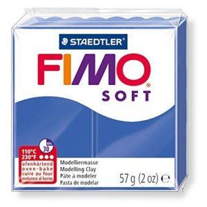 Pâte Fimo Soft Bleu Brillant N°33