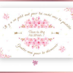 Carte à gratter Cherry blossom à personnaliser
