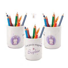 pot à crayon personnalisé licorne