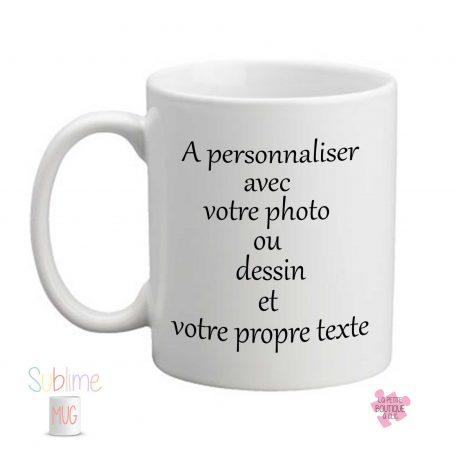 mug personnalisé avec photo et texte