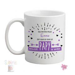 Mug papy fête des grands pères violet