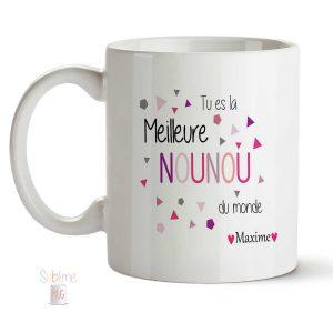 mug nounou personnalisé